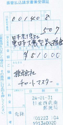 災害支援 義援金20120131